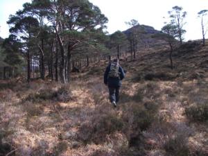 Walking in Torridon, Scotland.